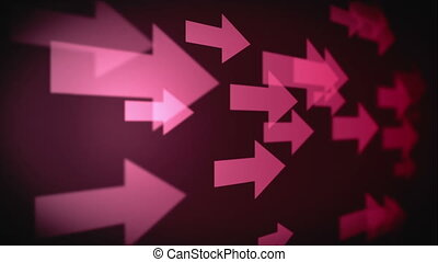 Video of multiple pink arrows - Animation of multiple pink...