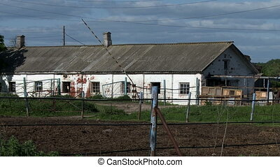 Fragment of old building on farm - View of old farm