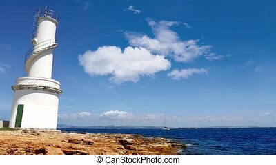 La Savina lighthouse in Formentera Sabina near Ibiza island