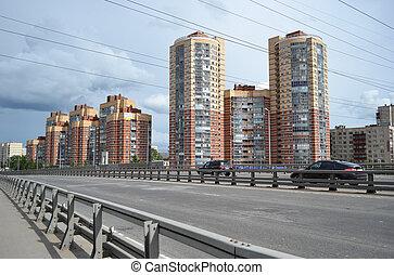 Dunaysky street in St.Petersburg - View of Dunaysky street...