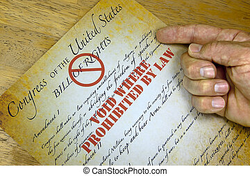 Bill Of Rights, quot;Voided By Lawquot; - Hand questioning a...