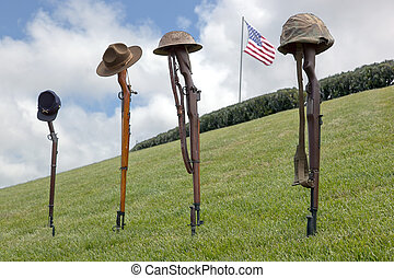Fallen Soldier Battle Crosses - Vintage riflles and...
