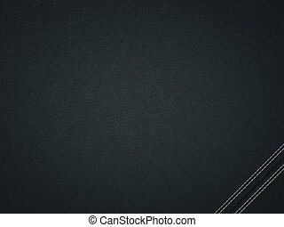 Stitched black leather background