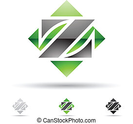 Abstract icon for letter Z - Vector illustration of abstract...