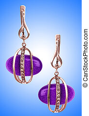 Jewellery concept with nice earrings