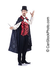 Magician isolated on the white background