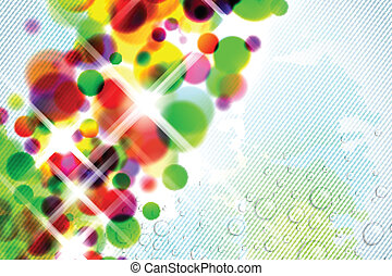 Abstract Colorful Background - Abstract with blurred colours...