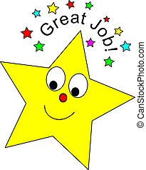 Great Job Star - Cute star and Great Job