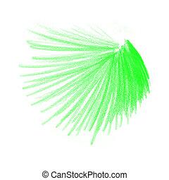 cor, lápis, verde, desenhos