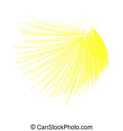 cor, lápis, desenhos, amarela