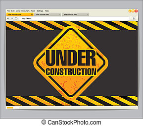 sous, construction, site, Gabarit