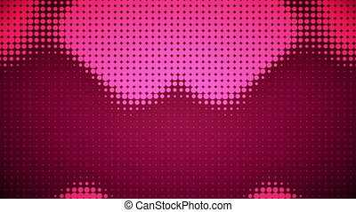 Video of pink dots - Animation of pink dots