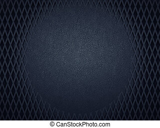 Leather background with circle and meshy pattern
