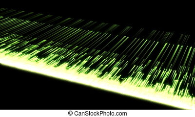 Video of multiple green lines - Animation of multiple green...
