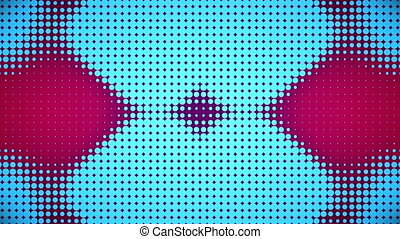 Video of pink and blue dots - Animation of pink and blue...