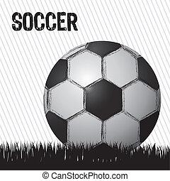 illustration of grunge soccer ball