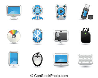 Computer icon set - Illustration of Computer icon set