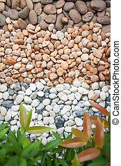 Stone  in garden