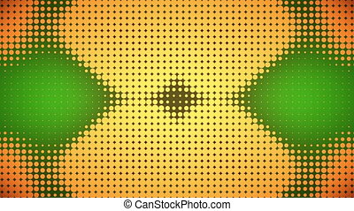 Video of green and orange dots - Animation of green and...