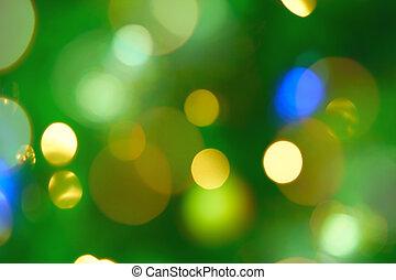 Magical Lights on the christmas tree