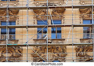 Restoration - Photo of an old building during the moment of...