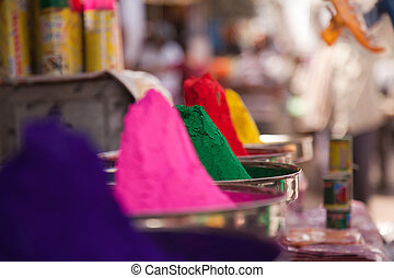 Color full colors of holi - Different colors for sale in...
