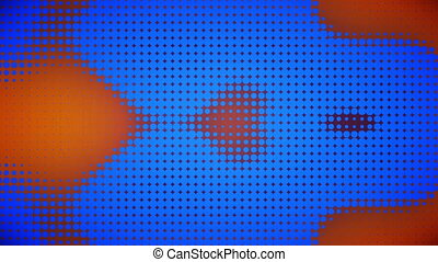Video of blue and orange dots - Animation of blue and orange...