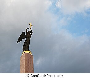 Guardian Angel - High in the sky over the city of Stavropol,...