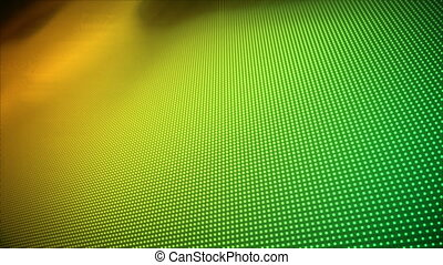 Video of multiple yellow and green