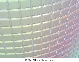 Fluted metal pattern with gradient colors