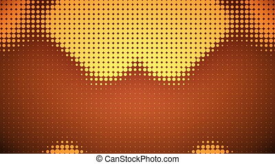 Video of orange dots - Animation of orange dots