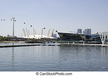 Royal Victoria Dock, Newham, London - View across the Royal...