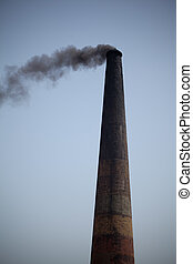 Pollution of Industrial chimney