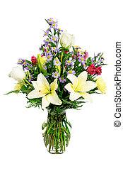 flor, arreglo, centro de mesa