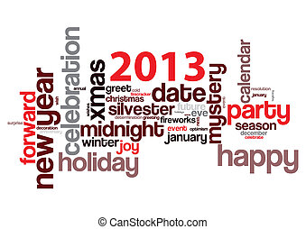 Silvester 2013 isolated on white