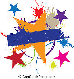 colorful star background design