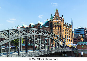 Brooks Bridge at the speicherstadt in hamburg - Brooks...