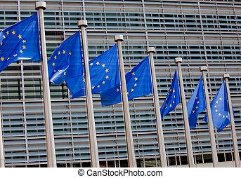 européen, Drapeaux