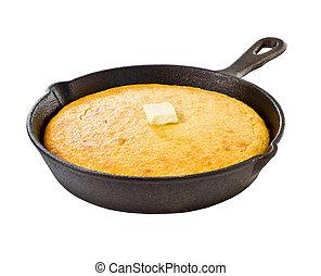maíz, bread, hierro, Sartén, aislado