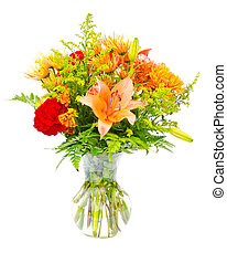 Colorful flower bouquet arrangement