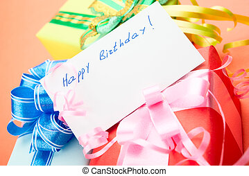 Gift Boxes Congratulating on a birthday - Congratulating on...