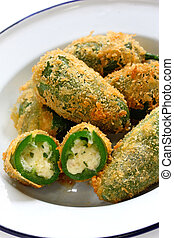 jalapeno poppers - jalapeno stuffed with cheese