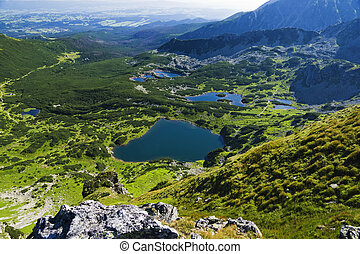 Polish High Tatras Area Ponds in Gasienicowa Valley