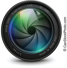 camera lens - camera photo lens with shutter.