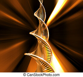 DNA strands - 3D render of DNA strands