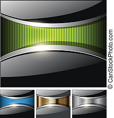 Abstract business backgrounds, glossy black with colorful...