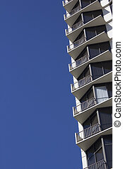 Condo apartment building - the side of an apartment or condo...