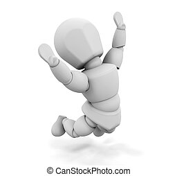 Jump for joy - 3D render of someone jumping for joy