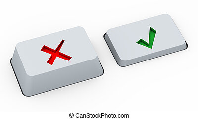 Right & wrong choice buttons