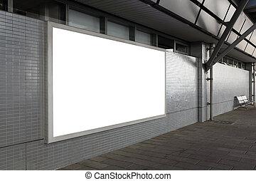 Blank billboard on the street - Blank billboard with empty...